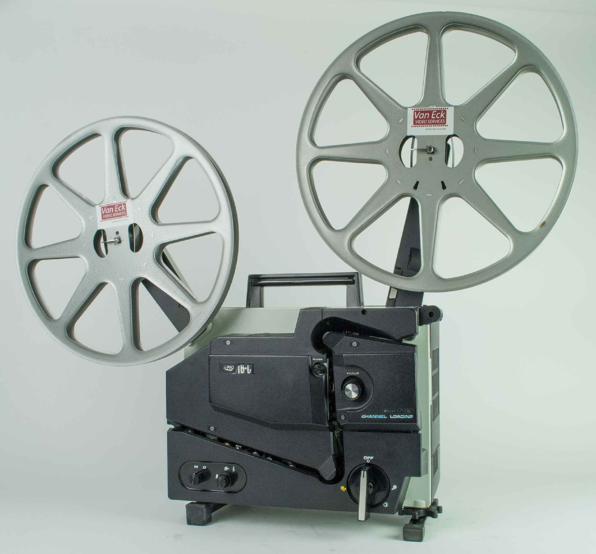 Elmo 16-CL film projector. For 16mm films
