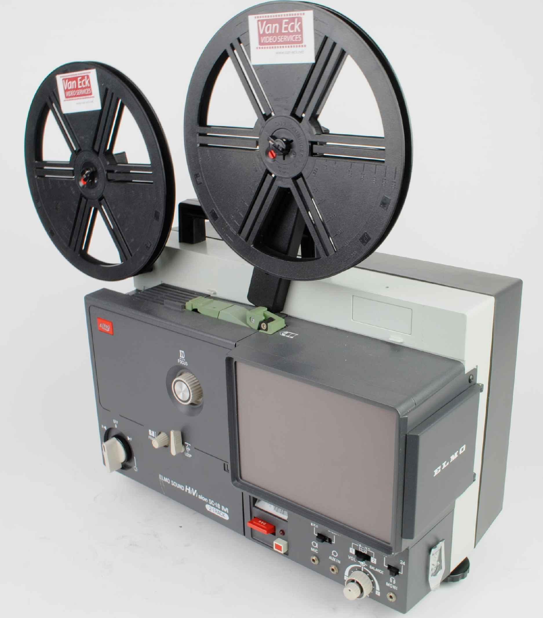 Elmo Sound Hi Vision SC-18 M 2-Track marketed in 1983 super 8 mm film