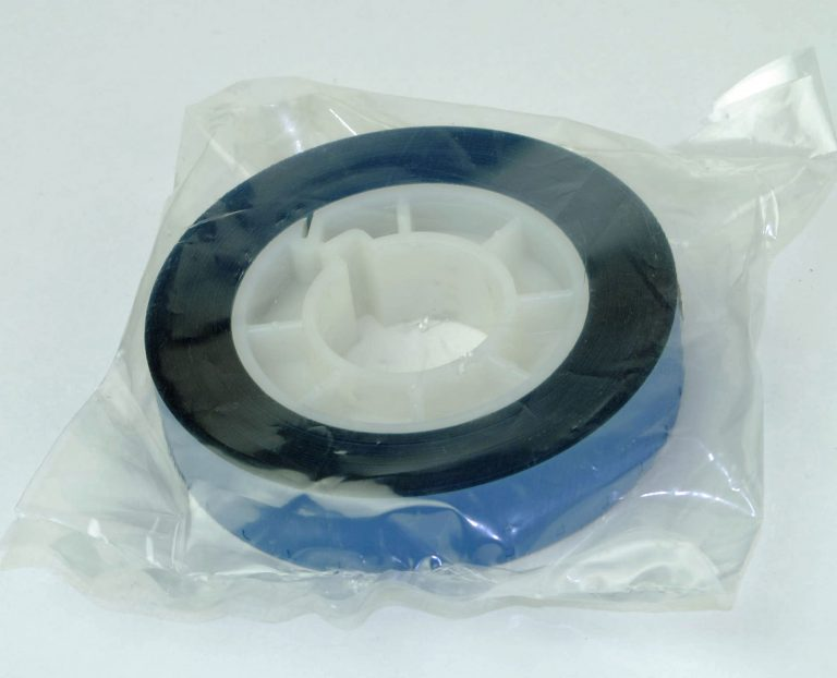 16mm Film Leader/ aanloopstrook blauw acetaat - Single perforatie - 15,24m (50ft)