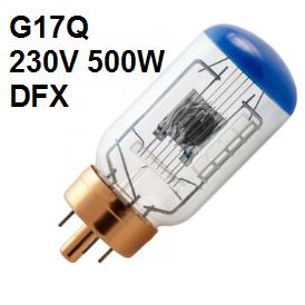 Lamp G17q 230V 500W (DFX)