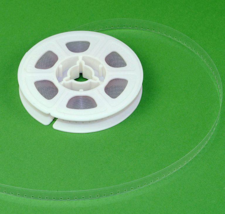 Regular 8 Film Leader - Doorzichtig Plastic - 15,24m (50ft)