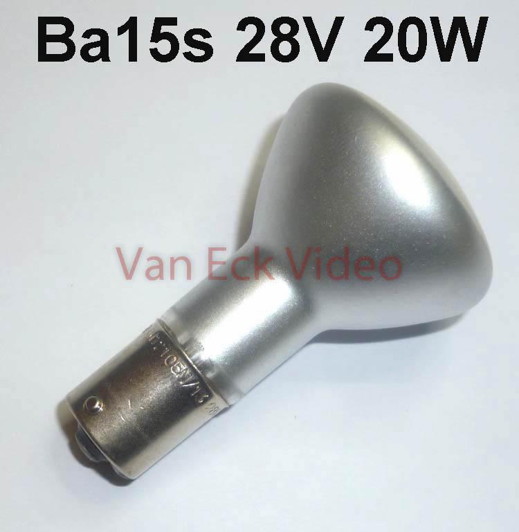 Lamp Ba15s 20W 28V - 12105 N/13 - type 1385