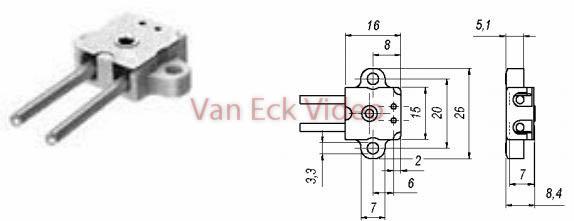 Lampvoetje G4, GY4,GZ4 - Keramisch 990 (Bender & Wirth)