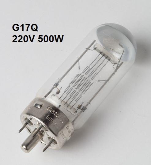 Lamp G17Q 220V 500W (6282C/05, A1/180, DBS/DAK)