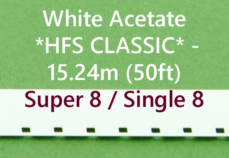 Super8/Single8 Film Leader - Wit Acetaat- Kodak - 15m (50ft)