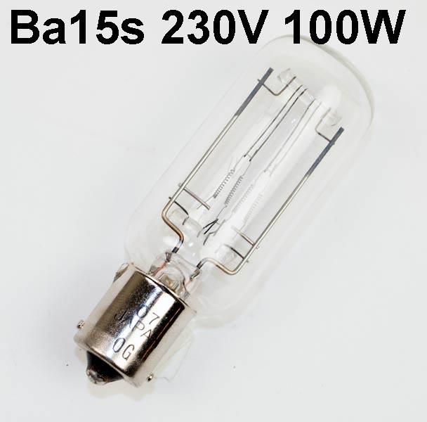 Lamp BA15s, 230V 100W FP-8, SYL-21, LIF A1/21 ANSI: CJW
