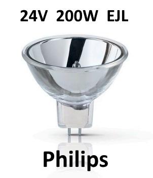 Philips Koudespiegellamp Halogeen 24V / 200W - GX5.3 - Type 13164 - 50 branduren (EJL)