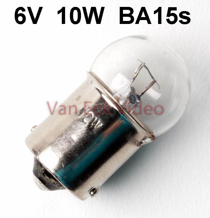 Viewer lamp 6V 10W BA15s (6814)