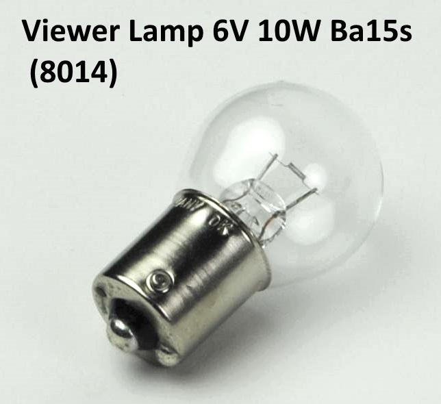 Viewer lamp 6V 10W BA15s (8014)