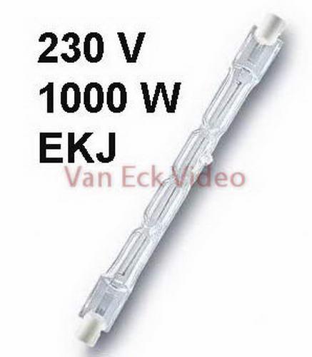 Lamp R7s, 1000W, 230V (ansi EKJ), R7S, Osram 64580, F6,3A (127,1mm)