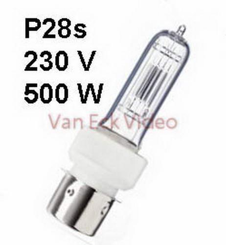 Lamp P28s, 230-240V, 500W, ansi: BTL / FKF, 21x130