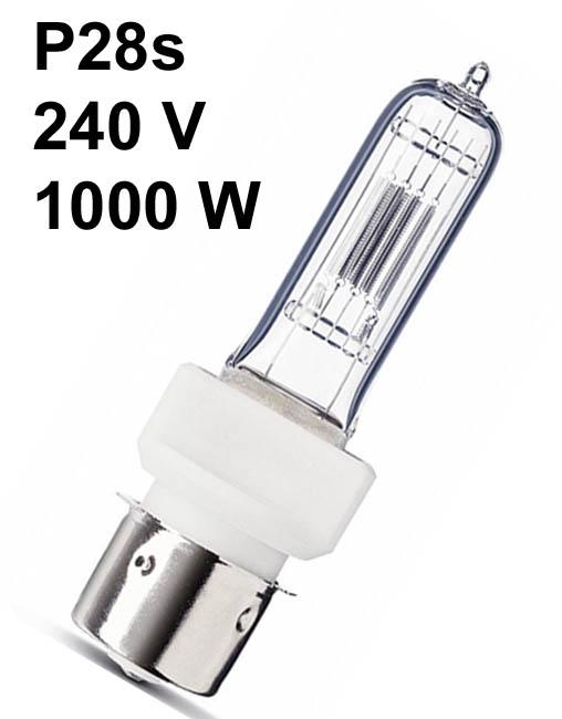 Lamp P28s 230-240V, 1000W, halogeen, ansi: FKD