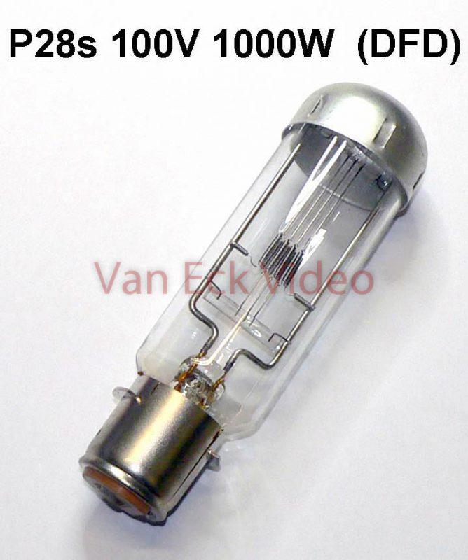 Lamp P28s, 100-120V 1000W ANSI: DFT LIF: A1/59 (Osram 58.8985E, Philips 7242C/05)