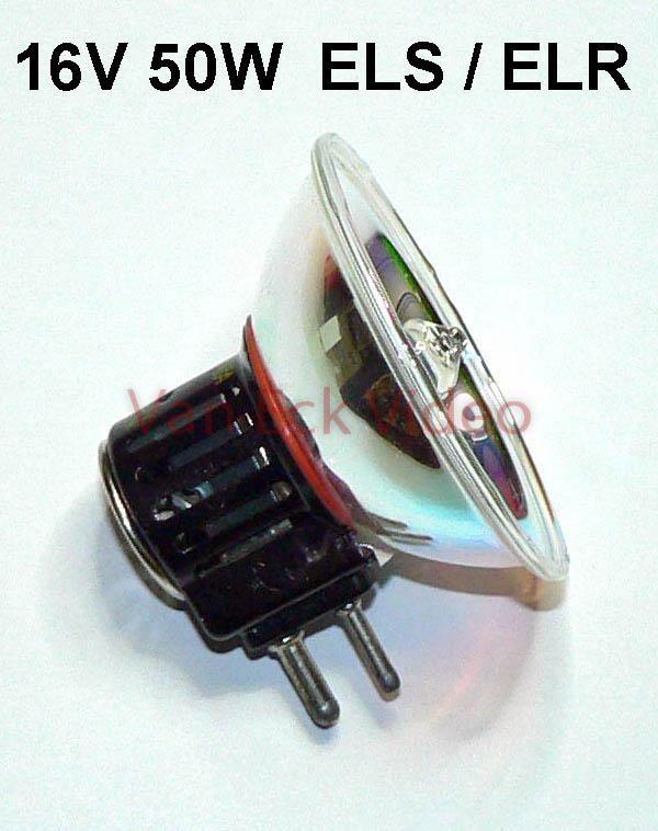 Lamp 16V 50W sokkel GX 7.9, ansi; ELS / ELR