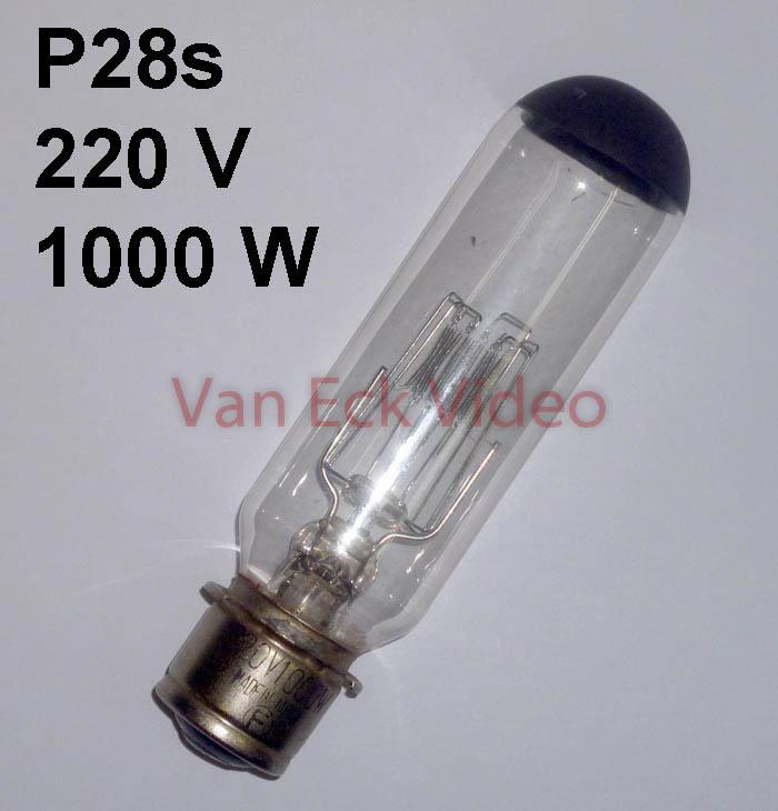 Lamp P28s, 220V, 1000W