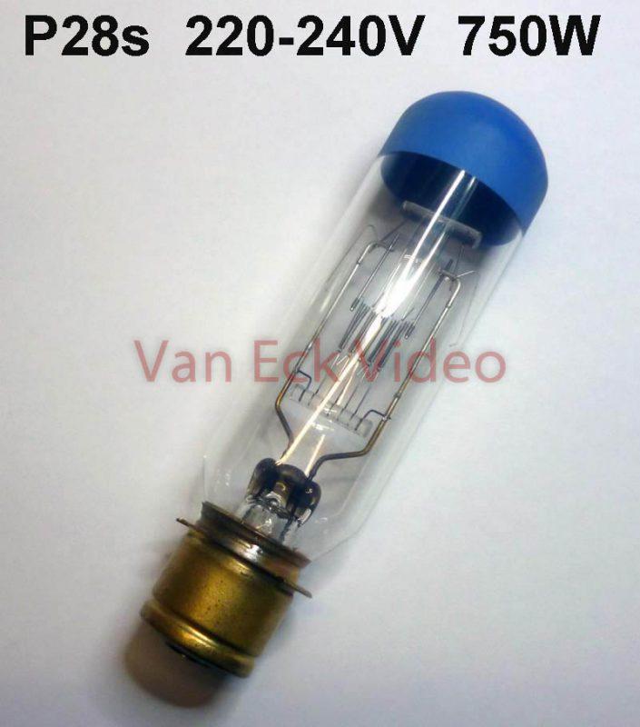 Lamp P28s, 220-240V, 750W (Ph. 6153C/05 , Osr.58.8980) Ansi: DKK