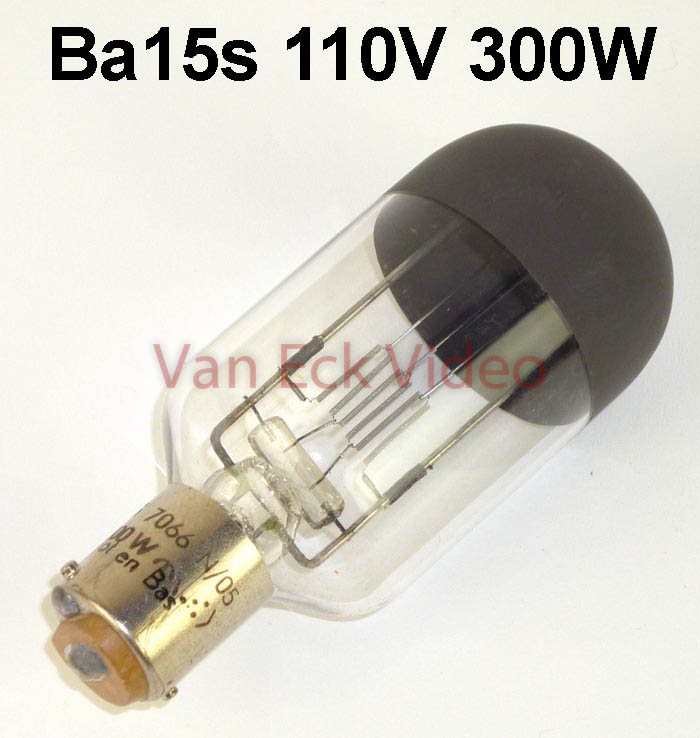 Lamp Ba15s, 110V 300W 7066N/05 L.V. Onder Culot & Bas