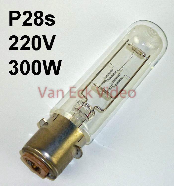 Lamp P28s 220v 300w PP-300 6131C 58.8591E