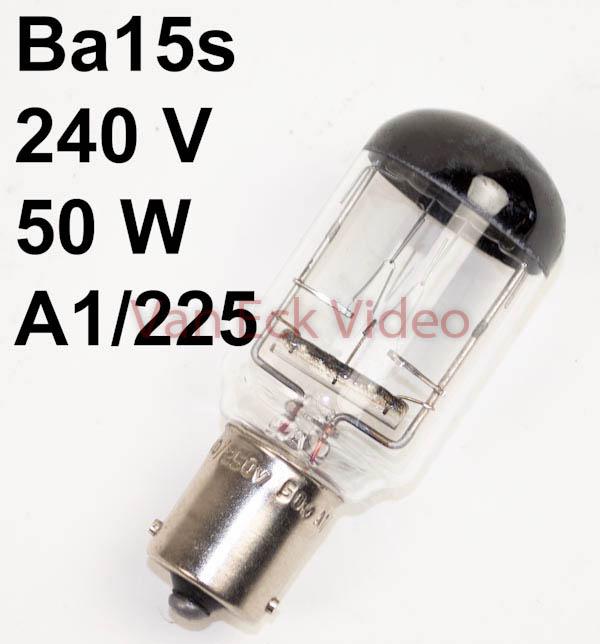 Lamp Ba15s 240v 50w A1/225