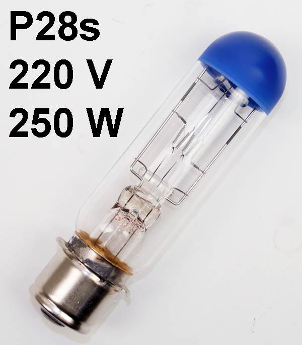 Lamp P28s 220-230V, 250W A1/5 Osram 58.8490E, AVI-PP-250 - ANSI: DLC, DBK