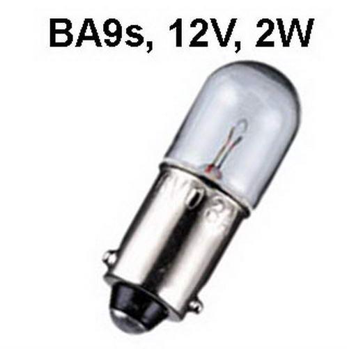 Lamp Ba9s, 12v, 2W, 10x28mm