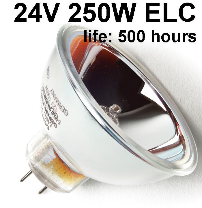 Philips Koudespiegellamp Halogeen 24V / 250W - GX5.3 - 13163/5H (ELC) - life 500 hours