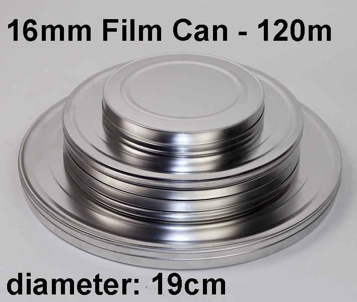 16mm filmblik / metal / 120m / 400ft