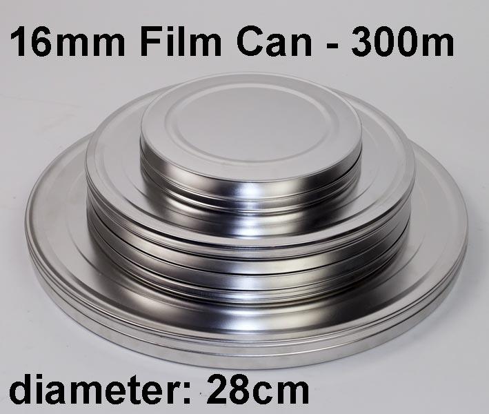 16mm filmblik / metaal / 300m / 1000ft