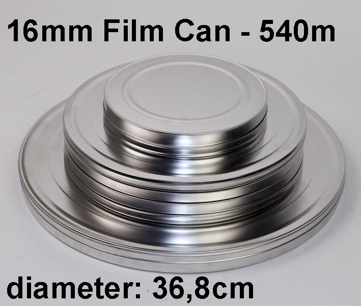 16mm filmblik / metaal / 540m / 1800ft
