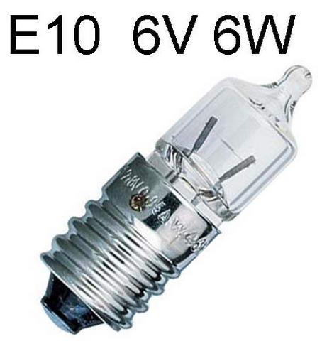 Lamp E10 - 6V 6w