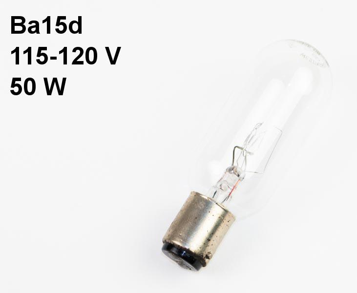 Lamp Ba15d, 115-120V, 50W Westinghouse - ANSI: CAX