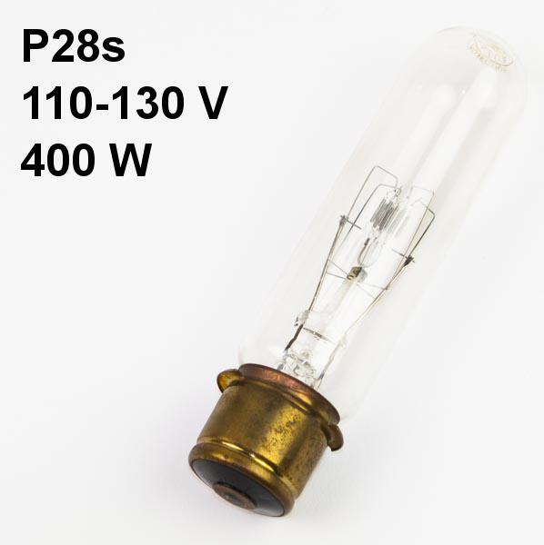 Lamp P28s, 110-130V, 400W Mazda GE