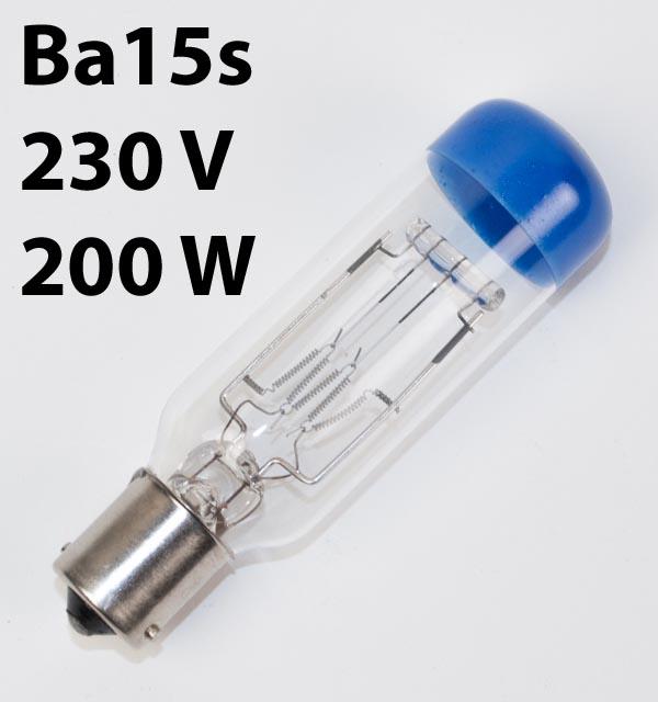 Lamp BA15s, 230V, 200W, SYL26 (CGT, CGW)