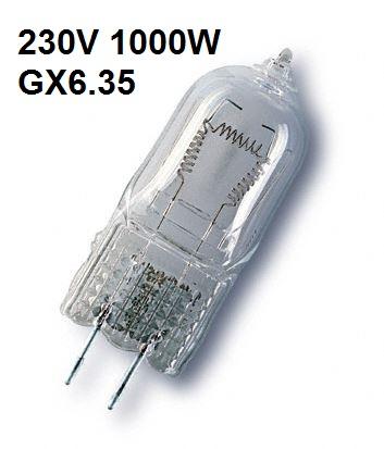 Steeklampje Halogeen 230V / 1000W GX6.35 EGY- Osram 64575 P1/15
