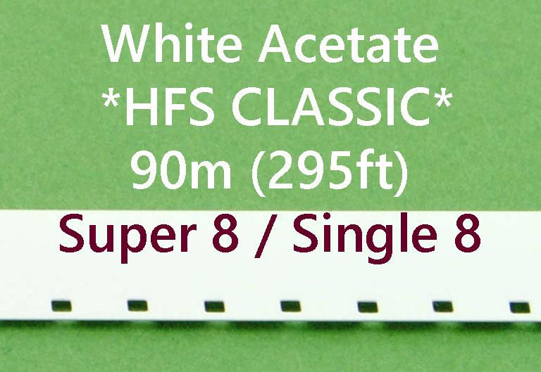Super8/Single8 Film Leader - Wit Acetaat- Kodak - 90m (295ft)