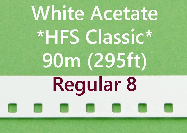 Regular 8 Film Leader - Wit Acetaat - Kodak - 90m (295ft)