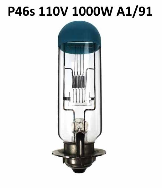 Lamp P46S 110V 1000W LIF: A1/91
