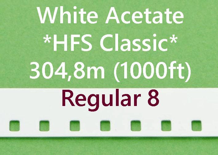 Regular 8 Film Leader - Wit Acetaat - Kodak - 305m (1000ft)