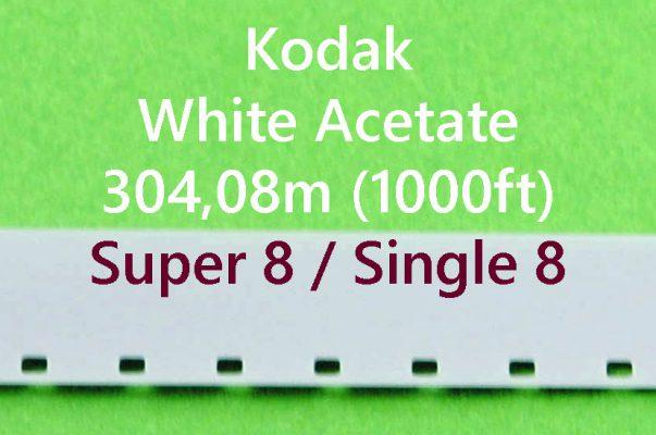 Super8/Single8 Film Leader - Wit Acetaat- Kodak - 305m (1000ft)