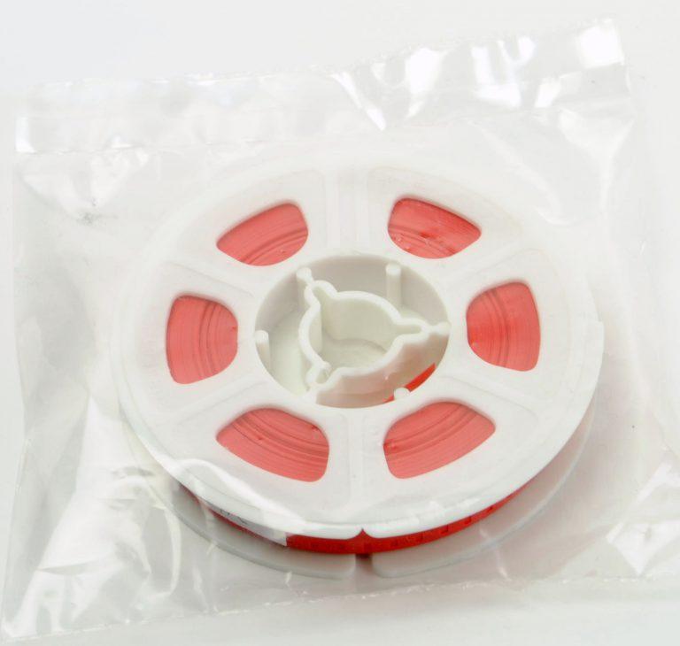Super8/Single8 Film Leader -Rood Plastic - 15,24m (50ft)