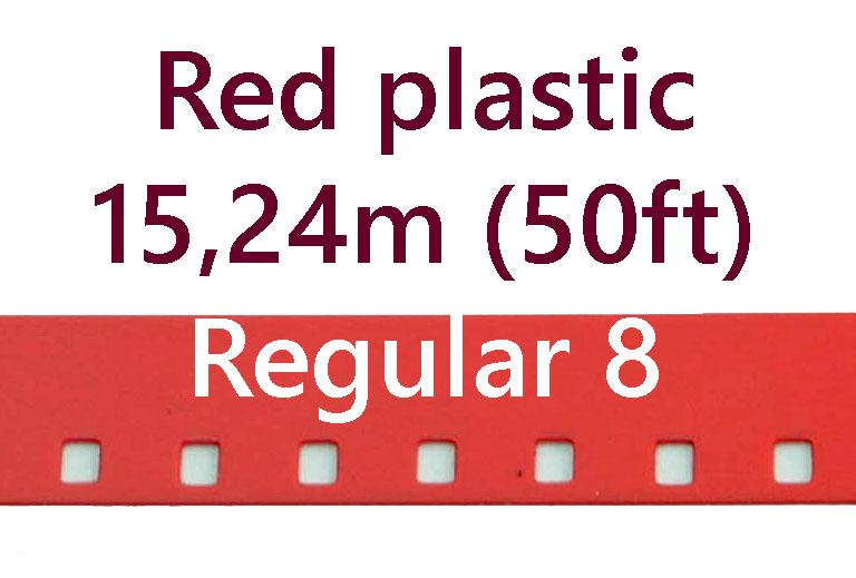 Regular 8 Film Leader - Rood Plastic - 15,24m (50ft)