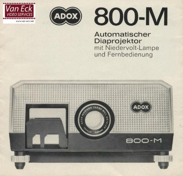 Adox 800-M Gebruikshandleiding Deutsch
