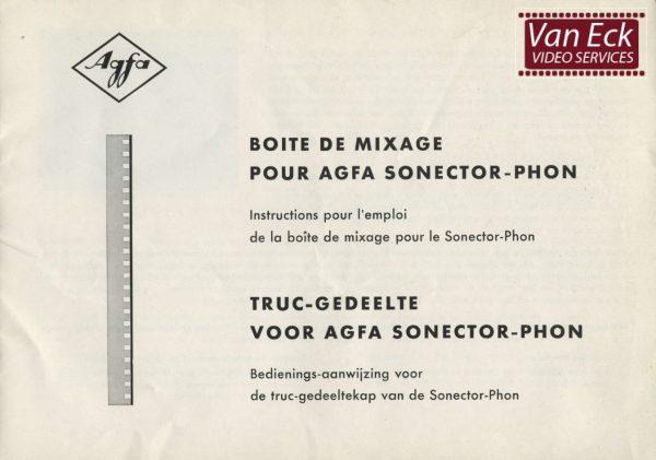 Agfa Sonector Phon Gebruikshandleiding, Talen: Duits Engels Frans Nederlands