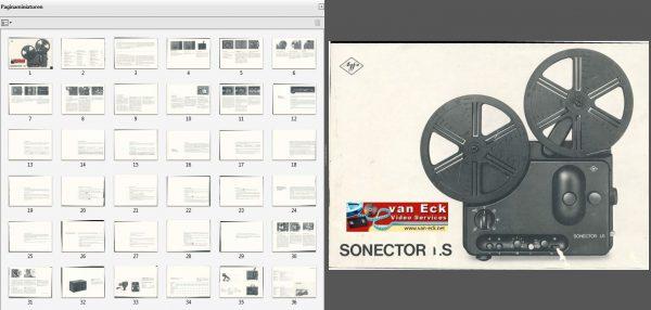 Agfa Sonector LS Gebruikshandleiding Nederlands