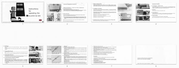 Aldis QI 24 Gebruikshandleiding, Talen: Engels