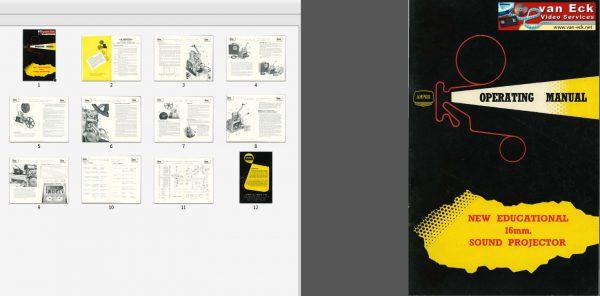 Ampro New Educational 16mm sound projector Gebruikshandleiding Engels (English)