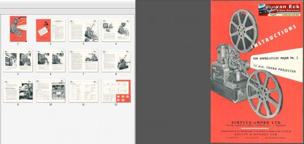 Ampro Stylist Major MK 2 Gebruikshandleiding Engels (English)