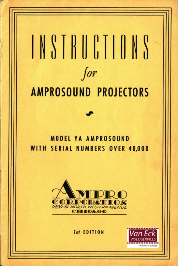 Ampro YA Amprosound Gebruikshandleiding, Talen: Engels