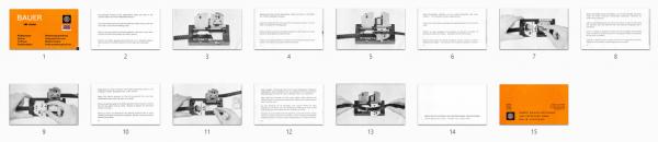 Bauer 16mm splicer Gebruikshandleiding, Talen: Duits Engels Frans Spaans