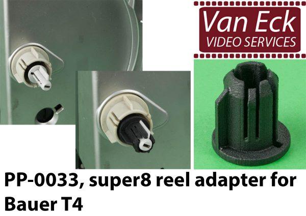 Bauer T4 - super8 spoel adapter